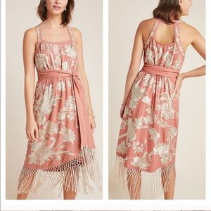 NWT Anthropologie Lucille Fringe dress
